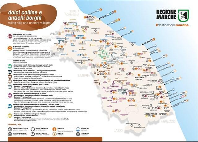 Immagini Cartina Marche.Cartina Dolci Colline Ed Antichi Borghi