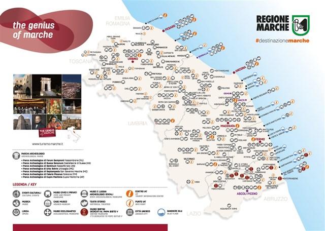 Immagini Cartina Marche.Cartina The Genius Of Marche