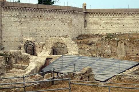 Veduta dell'Anfiteatro romano di Ancona