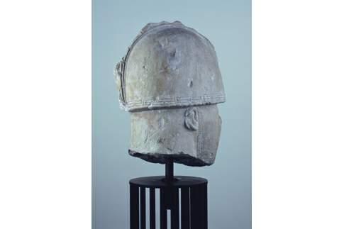 Testa del guerriero di Numana vista di profilo