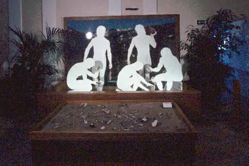 Sala del museo dedicata al Giacimento Paleolitico di Ponte Pietra