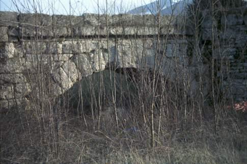Veduta di Ponte Mallio sulla via Flaminia