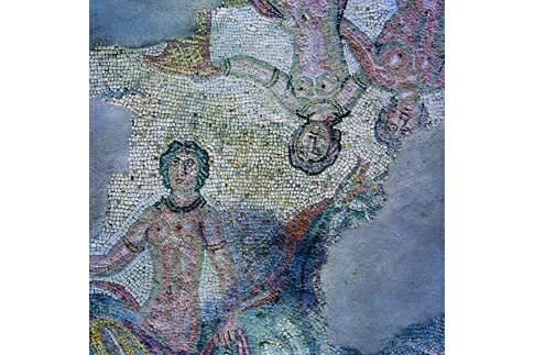 Particolare dei mosaici pavimentali della Domus dei Coiedii