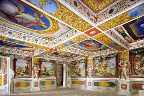 Attrazione di Caldarola - Palazzo Pallotta, Stanza del Paradiso