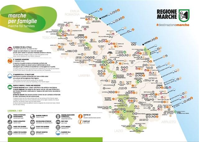Cartina Turistica Abruzzo.Cartina Marche Per Famiglie