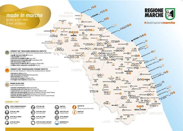 Cartina Geografica Marche.Cartina Made In Marche Gusto A Km 0