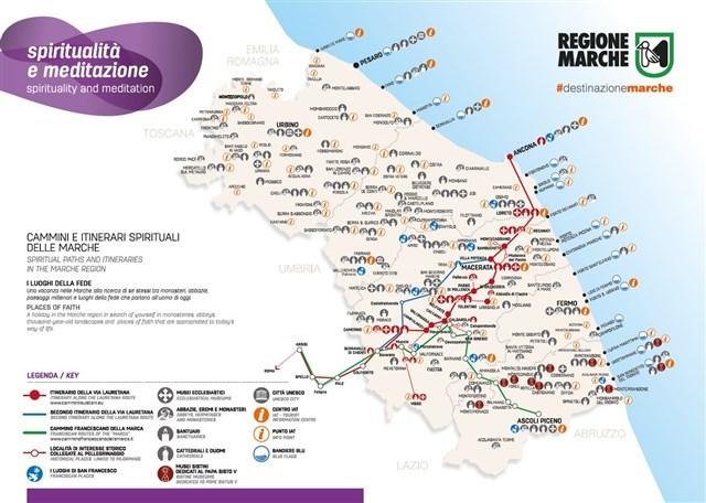Cartina Emilia Marche.Punti Iat Cartina Luogi Della Spiritualita E Meditazione