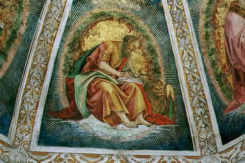 Particolare della volta della Sagrestia di San Giovanni