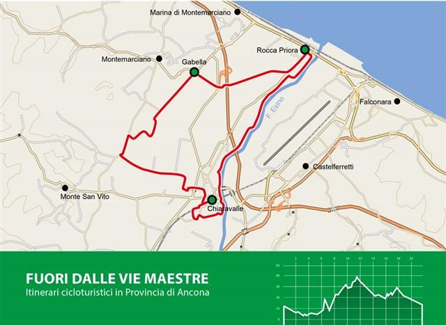 Mappa Percorso Da Chiaravalle al Parco del Cormorano