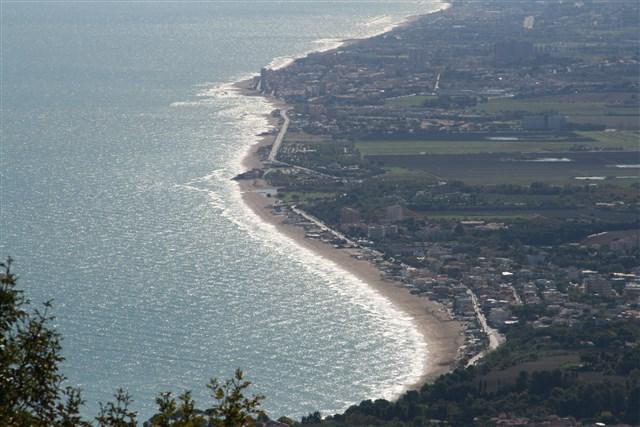 Riviera vista dal Monte Conero