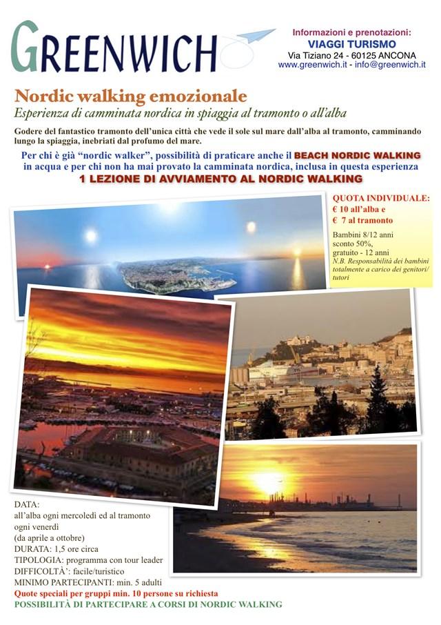 Nordic walking emozionale al tramonto e all'alba