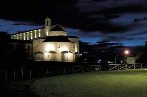 Montecosaro scalo - Santa Maria a Piè di Chienti, by night