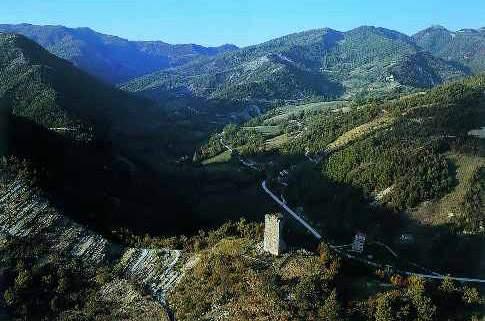 Vista panoramica su Borgo Pace
