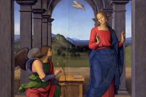 Scopri le attrazioni di Fano - Pietro di Cristoforo Vannucci, detto il Perugino - Annunciazione