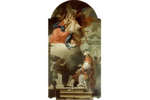 Attrazione di Camerino - Giovan Battista Tiepolo - Apparizione della Madonna a San Filippo Neri