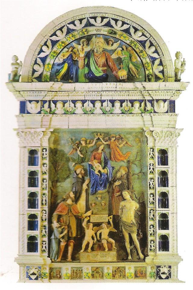 Montecassiano, Pala d'altare di Mattia della Robbia