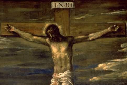 Crocifissione, particolare di Cristo