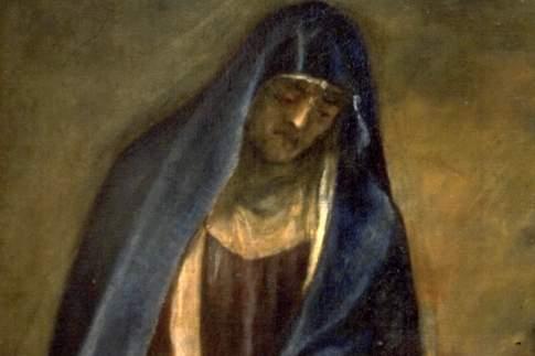 Crocifissione, particolare della Vergine