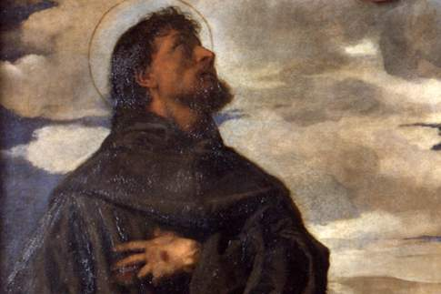 Pala Gozzi, particolare con San Francesco