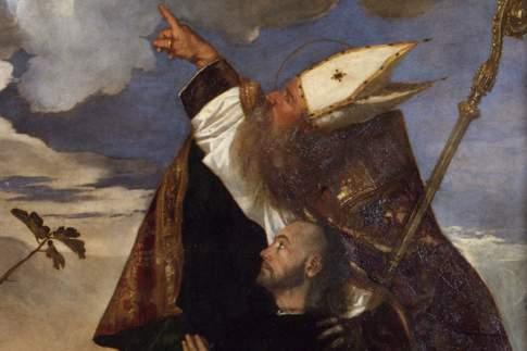 Pala Gozzi, particolare con San Biagio e Alvise Gozzi