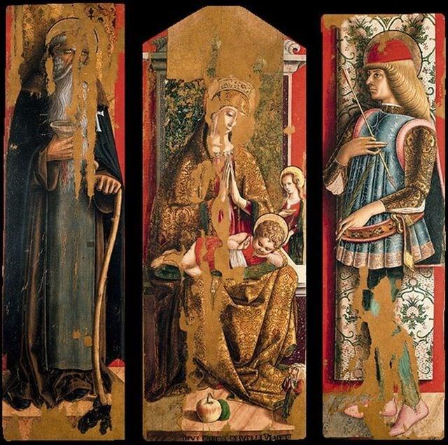 Secondo Trittico Crivelli Pinacoteca Ascoli