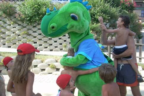 Mascotte dell'Acquaparco Verde Azzurro